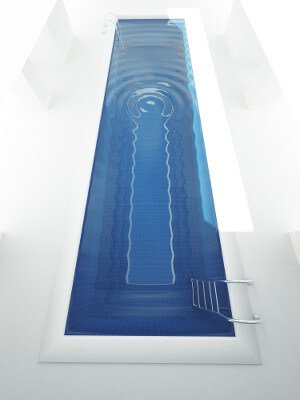 Computer Illustration Of A Lap Swimming Pool